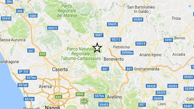 Terremoto nel Sannio, scossa 2.9 vicino Benevento: gente in strada